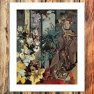 The ancient woman  20x16 FRAMED CANVAS PRINT