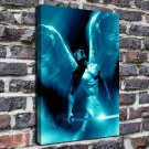The wings of the man  20x16 FRAMED CANVAS PRINT
