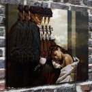 Violinist and muse  20x16 FRAMED CANVAS PRINT