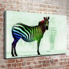 The Animals Lonely Painting  20x16 FRAMED CANVAS PRINT