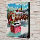 Old Christmas gifts  20x16 FRAMED CANVAS PRINT