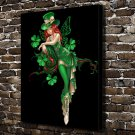 The green angel  20x16 FRAMED CANVAS PRINT