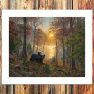 Rise and Shine  20x16 FRAMED CANVAS PRINT