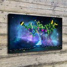 Abstract technology tree  20x16 FRAMED CANVAS PRINT