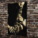 play saxophone  20x16 FRAMED CANVAS PRINT