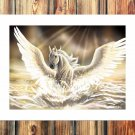 Angel wings  20x16 FRAMED CANVAS PRINT
