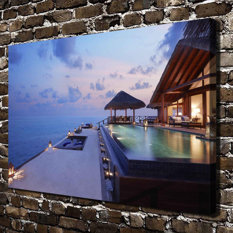 The maldives  20x16 FRAMED CANVAS PRINT
