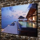 The maldives  20x16 FRAMED CANVAS PRINT