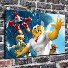 The spongebob movie  20x16 FRAMED CANVAS PRINT