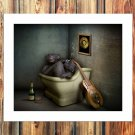 Naughty little monkey  20x16 FRAMED CANVAS PRINT