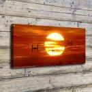 Sunset Star Wars Print FRAMED CANVAS PRINT CA 20x16 inch