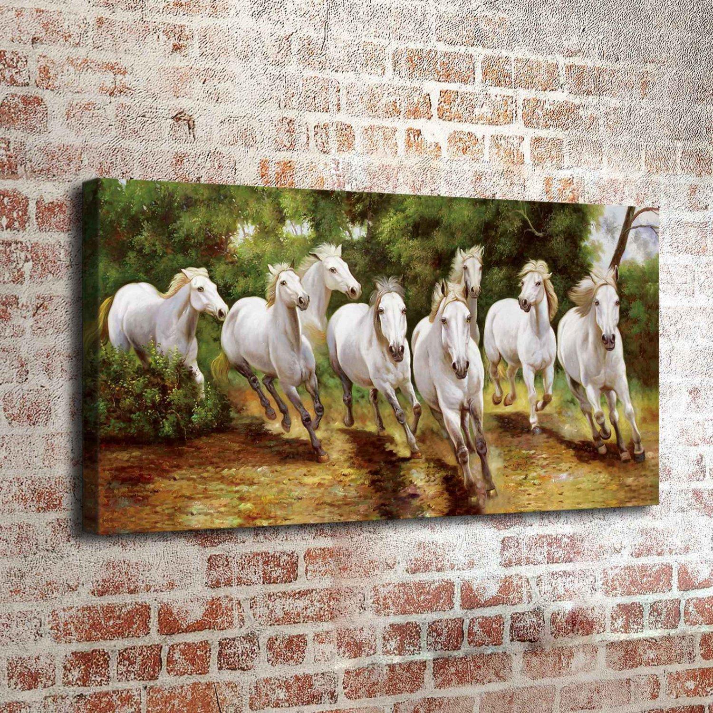 35-Animal Horse Landscape  20x16 FRAMED CANVAS PRINT
