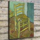 Van Gogh's Chair Painting FRAMED CANVAS PRINT CA 20x16 inch