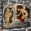 Two naked women FRAMED CANVAS PRINT CA 20x16 inch