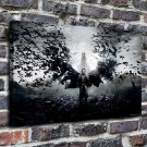Black batman Paintings  20x16 FRAMED CANVAS PRINT