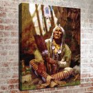 Kindly Old Man Painting FRAMED CANVAS PRINT CA 20x16 inch