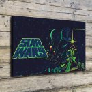 Star War Vader Luke  20x16 FRAMED CANVAS PRINT