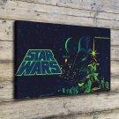 Star War Vader Luke FRAMED CANVAS PRINT CA 20x16 inch