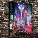 Times Square FRAMED CANVAS PRINT CA 20x16 inch