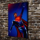 DC Superman Paintings  20x16 FRAMED CANVAS PRINT
