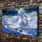 The arctic ice  20x16 FRAMED CANVAS PRINT