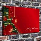 Christmas balls red FRAMED CANVAS PRINT CA 20x16 inch