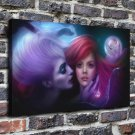 little mermaid Painting  20x16 FRAMED CANVAS PRINT