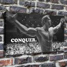 Muscle man FRAMED CANVAS PRINT CA 20x16 inch