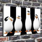 Cute penguins Painting  20x16 FRAMED CANVAS PRINT