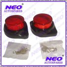 Red Led Reflectors Round Brake Light Brake Lamp Best Quality For Bike Car Truck