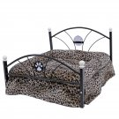 Luxury Pet Bed Dog House Zebra Leopard Sofa for Pet Cat Puppy Cushion Mats