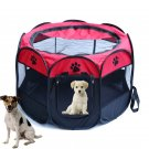 Portable Folding Pet Tent House Cage Dog Cat Bed Tent Puppy Kennel Easy Operation Octagonal Fence