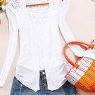 Unomatch Women Lace Designed Upper Wearing Shirt and Blouse White (UWSB830)