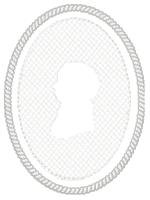 Embossed Male Cameo
