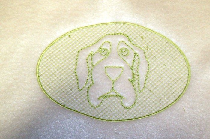 Hang Dog Embossed Design