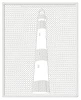 Embossed Lighthouse Square