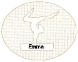Personalized Embossed Gymnastics Design