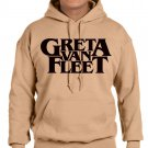 GRETA VAN FLEET Hoodies -  OLD GOLD HOODY - gvf Hoodies  (x-large)