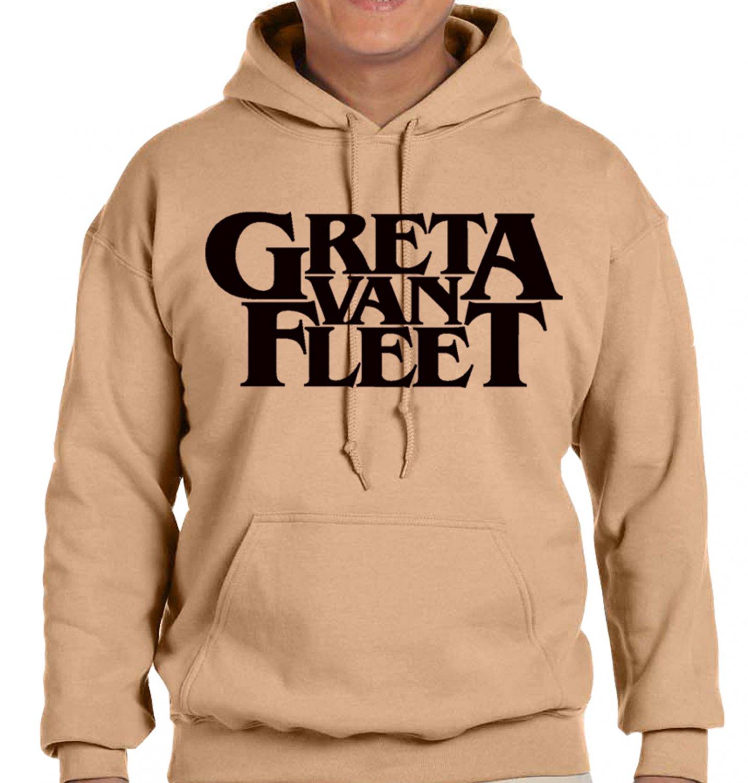 GRETA VAN FLEET Hoodies -  OLD GOLD HOODY - gvf Hoodies  (large)