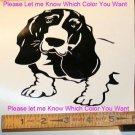 Bassett Hound - custom vinyl graphic - 5 x5 inch