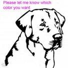 Labrador Retriever - custom vinyl graphic 5x5 inch