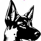 German Shepherd Dog - custom vinyl graphic 5x5 inch