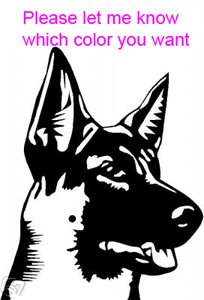 German Shepherd Dog - custom vinyl graphic 5x5 inch