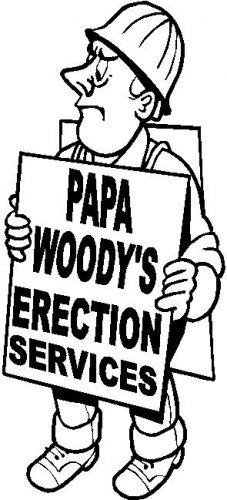 custom vinyl graphic papa woody's