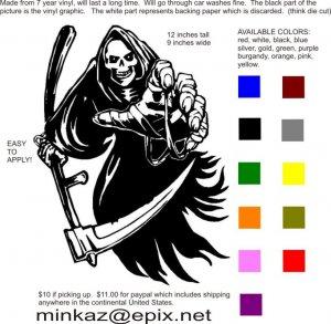 custom vinyl graphic Grim Reaper