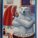 1996 Coca-Cola Polar Bear Santa Tin.