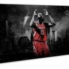 James Harden Basketball Star Art 16x12 FRAMED CANVAS Print Decor