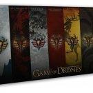 Game Of Thrones TV Show Season Drama Series Wall Decor 16x12 FRAMED CANVAS Pri