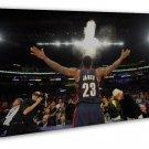 Lebron James Basketball Star Wall Decor 16x12 FRAMED CANVAS Print