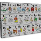 My Abc Alphabet Learn Table Art 16x12 Framed Canvas Print Decor